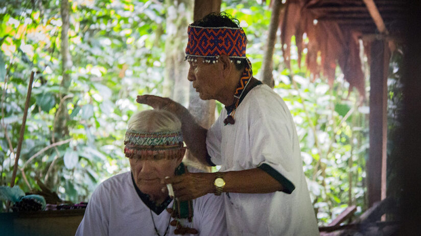 beginning ceremony ayahuasca in peru