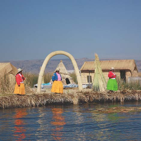 Uros Islands lake titicaca