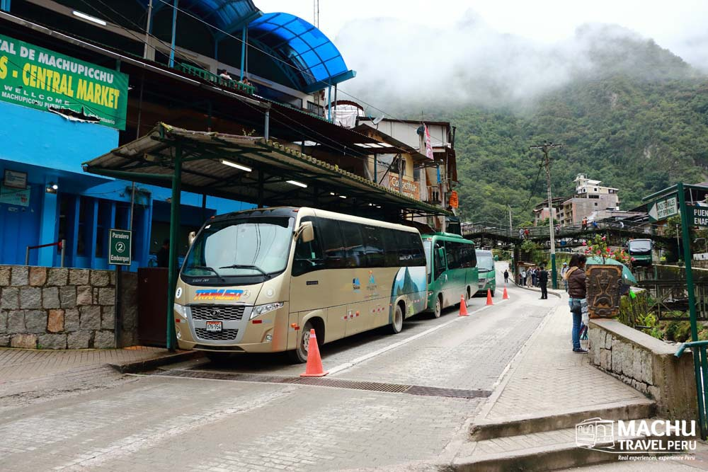 Ready to catch the bus to Machu Picchu