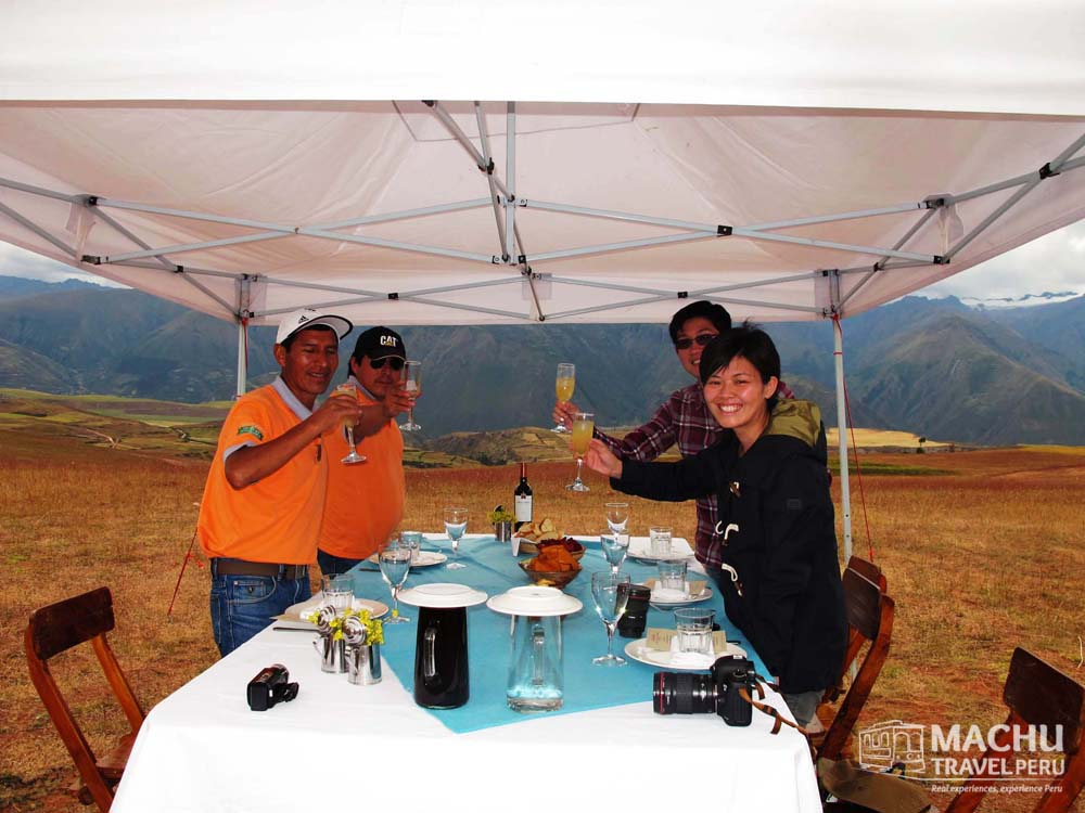 Toasting at The Sacred Valley
