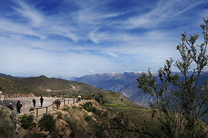Tourist in the colca Canyon