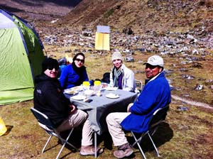 Breakfast at Inca Trail