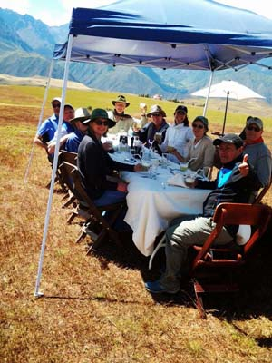Day picnic at The Sacred Valley