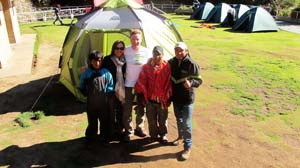 Our Inca Trail camping