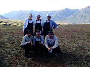 Peruvian cooking lessons at the andes