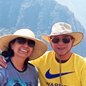 raul martinez and sonia martinez with machu travel peru