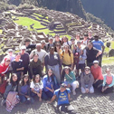 Sarah saldaña in a tour with machu travel peru