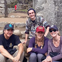 bonnie freitas in a tour with machu travel peru