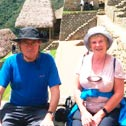 william and irene crawford in machu picchu with machu travel peru