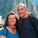 saundra and gary johnson in machu picchu