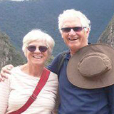carol & chuck bookwalter in a tour with machu travel peru