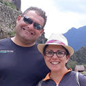 mark dewis and michelle huber in a tour with machu travel peru