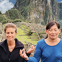 lori healy with machu travel peru