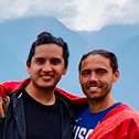 matthew forgues and manuel martinez with machu travel peru