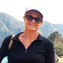 linda roland in machu picchu with machu travel peru
