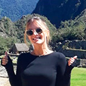 lindsay desantis with machu travel peru