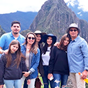Briceno Rivero family with machu travel peru