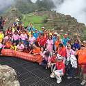 Tony kin Man Cheng group in a tour with machu travel peru