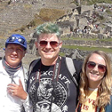 brie armstrong in a tour with machu travel