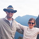 ashley and mark dalton with machu travel peru