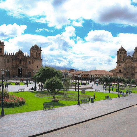cusco destination, cathedral and main square